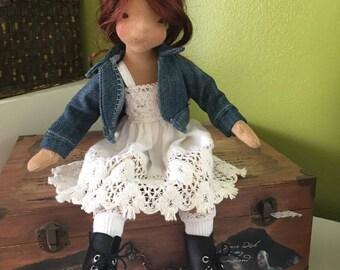 50  dollar deposit on 12 inch slender fiber art doll for  July