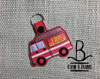 Fire Truck-Firefighter-Fireman-Fire woman Key Chain  Fire Truck-Firefighter-Fireman Key Ring Fire Truck-Firefighter-Fireman Luggage Tag