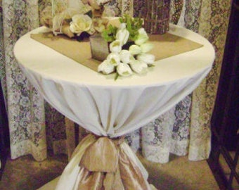 "SET of 10 SPECIAL OFFER 20"" Burlap Table Squares Sets Topper Overlay Centerpiece Rustic Wedding Reception Decor"