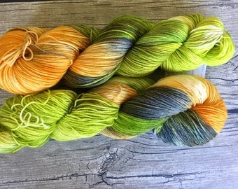 Goonies Never Say Die - Superwash Merino Nylon Hand Dyed Yarn - Fingering Weight Yarn - Sock Weight Yarn