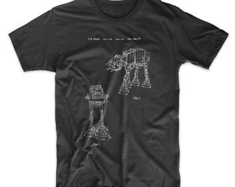 Star Wars AT-AT Walker Patent T Shirt, Starwars Shirt, Star Wars Shirt, Star Wars Gift PP0146