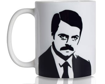 Park and Rec Ron Swanson Coffee Mug