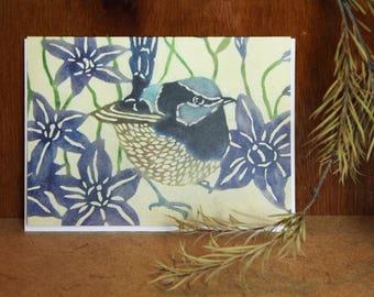 Superb Fairy Wren - Blank Greeting Card