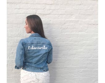 EMBROIDERY ONLY on YOUR jean jacket