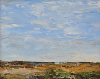 View from Great Point, Nantucket- Palette Knife Oil Painting
