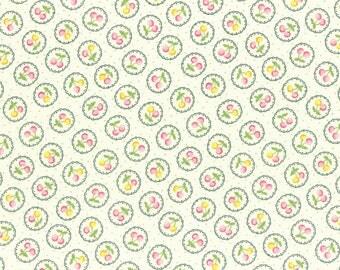 Lecien Old New 30's 2017 Japanese Fruit & Flowers Pattern 31525 60 Cherries Ivory Cream