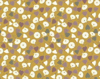 A254.1 - Granny-pop-out-of-beds On Mustard Yellow Lewis & Irene Patchwork Quilting Dressmaking Fabric