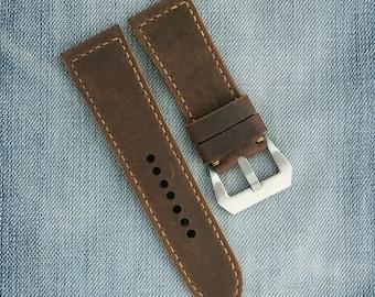 28mm 26mm Watch strap, leather watch strap, watch band, leather watch band, 26mm 28mm, watch straps, vintage strap, brown strap, men's strap