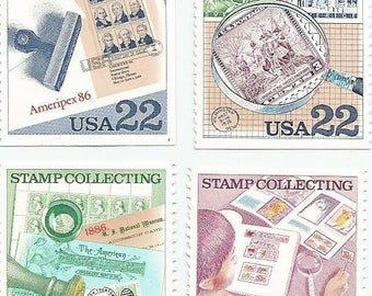 4 Mint Stamp Collecting Philately Philatelist US Postage Stamps