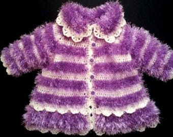 Hand made Knitted coat for girls, very light