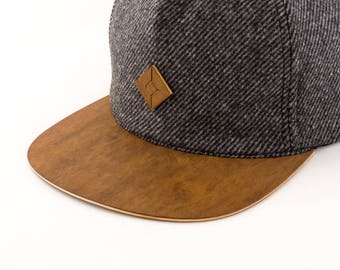 SALE 20% off - Baseball hat with wood brim handmade by AUSTRA | Baseball cap | Trucker cap