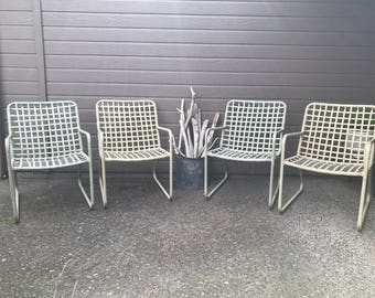 sold brown jordan lito pastel 5pc patio set vinyl lace aluminum chairs and