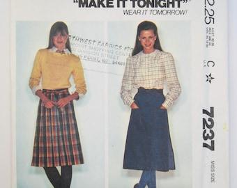 McCall's 7237 Misses' Skirt Pattern Sizes 14 - 16 Uncut