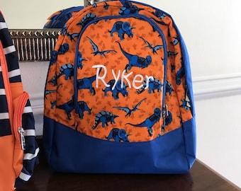 Toddler Backpack Boy - Kids Backpack -  Toddler Book Bag - Dinosaur Bag - Monogram Toddler Bookbags - Totes - Dinosaur Birthday