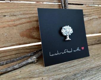 Silver Tree Lapel Pin /Tie Pin/Brooch
