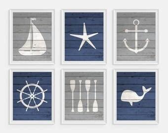 Ordinaire Nautical Nursery, Nautical Boys Room, Nautical Wall Art, Anchor, Whale, Oars