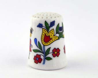 Vintage Porcelain Thimble from Germany