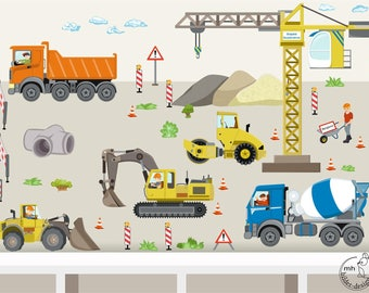 "Wall decal ""construction site set"" customization"