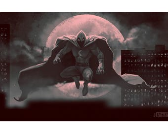 Moon Knight  / Superhero Poster / Marvel Poster (12 x 18)