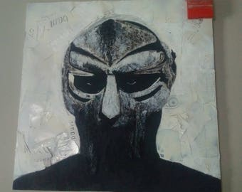 Handmade Mixed Media. Madvillainy Album Art. Mf DOOM. Madlib.