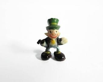 Jiminy Cricket Disneykins Disneyana Pinocchio Character Vintage Disney Marx Toys Hand Painted Miniature Figurine Fairy Garden Cake Topper