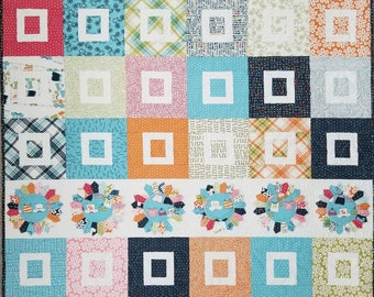 "Sugar Dish Quilt feat. Lucy's Crab Shack 48""x59"" **FREE SHIPPING**"