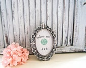 Oval Ornate Silver Vintage Style 4 x 6 Frame with Glass Backing, Party Favor, Antique Silver Frame, Wedding Frame Picture Frame Table Number