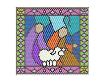 Shepherds Nativity pony bead banner pattern