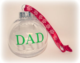 Christmas Ornament, Dad, Dad Ornament, Dad Gift,  Grandpa, Grandpa Gift, Grandpa Ornament, Papa, Grammy, Nana, Funeral Gift, Memorial Photo
