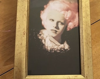 Jean Harlow pink hair print in a pink frame