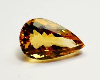 Natural Citrine Stone Pear Cut 16x10x8.2 mm Natural Stone Citrine, Natural Citrine Gemstone, Natural Citrine Gems