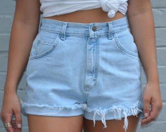 Lee Vintage Denim High Waisted Shorts - S