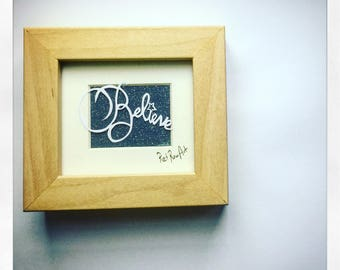 Believe - mini framed papercut art