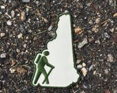 Hike New Hampshire Patch | Hike the White Mountains | Forest Gifts | Iron On Cute Patches