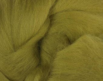 Merino Wool Roving / Combed Top / in DHG Olive