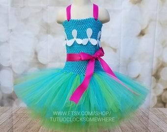 ADD A WIG! Poppy Troll Inspired Tutu Dress, Poppy Dress, Poppy Outfit, Poppy Costume, Troll Costume, Trolls Party, Trolls Birthday