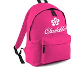 Personalised Bag Name Backpack with ANY NAME Kids Children Nursery School Student Rucksack