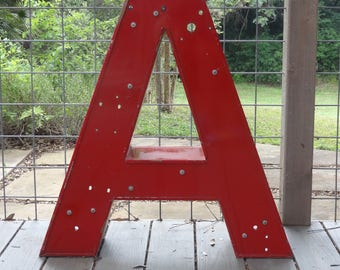 Red Marquee Letters