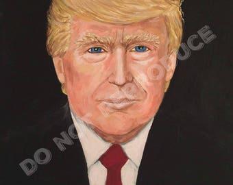 Painting of President Trump 8x10 print