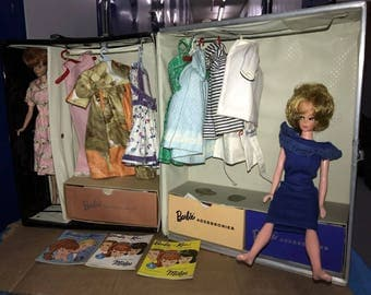 Vintage Barbie Midge Doll Lot With Case And Accessories 1960's 1970's
