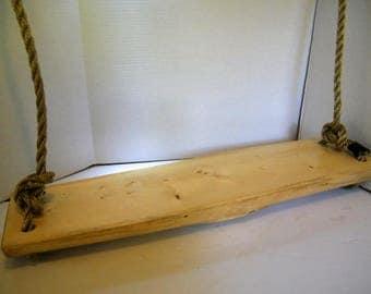 Wood Swing,Swing,Tree Swing, Porch Swing, Log Swing