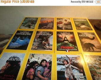 Save 25% Now National Geographic Magazine Complete Year 1989 12 Issues Excellent Condition
