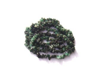 Emerald Green multicolor: 10 MICRO chips 3/4 mm in diameter
