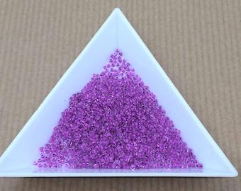 "pretty little Pearl ""Miyuki"" micro-ball purple tosca size 15"