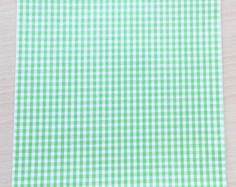 Fabric adhesive pattern: Green gingham 210 x 290 mm (A4)