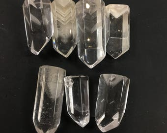 "One (1) tumbled phantom quartz crystal from lot past life work 1"" 17rf814-1"