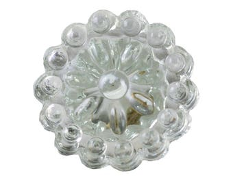 Set of 2 Glass Knobs - Clear