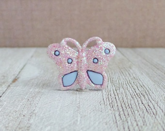 Butterfly - Glitter - Pink and Purple - Fly - Freedom - Beautiful - Renew - Lapel Pin