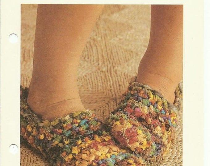 Retrocon Sale - Rag slippers easy crochet pattern digital download