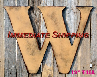 Large Letter Wood Letters Distressed Letter Capital Letter Giant Wood Letter Large Initial Wall Letter Large Wooden Letters READY TO SHIP